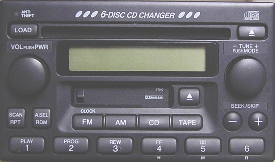 Radio honda kaseta / 6 cd usa zmiana kroku FM z 0,2 na 0,05